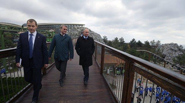 Путин в Крыму посетил комплекс с украинским названием «Мрия»