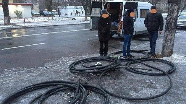В Киеве пенсионер украл кабель правительственной спецсвязи