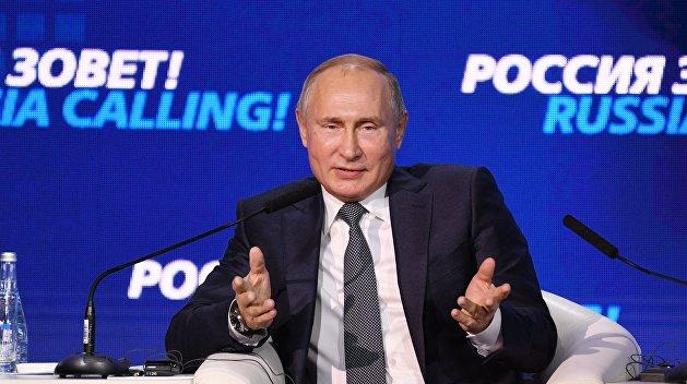 Путин: Киев не вводил военное положение, несмотря на войну в Донбассе и присоединение Крыма