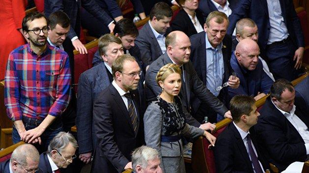 Тимошенко: На Украине введено внешнее управление