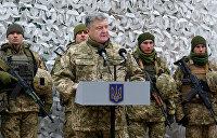 Военное положение: Готовя себе обед, Порошенко поджег хату