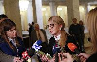 Тимошенко похвасталась победой над Порошенко