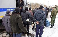 Обмен пленными. ДНР привезла украинских силовиков на окраину Горловки
