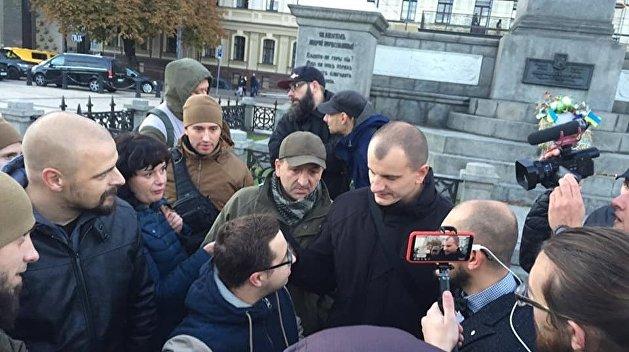 Радикалы из С14 попытались напасть на антифашистов в Киеве