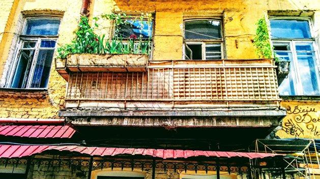 Киевлянина оштрафовали за плакат на балконе