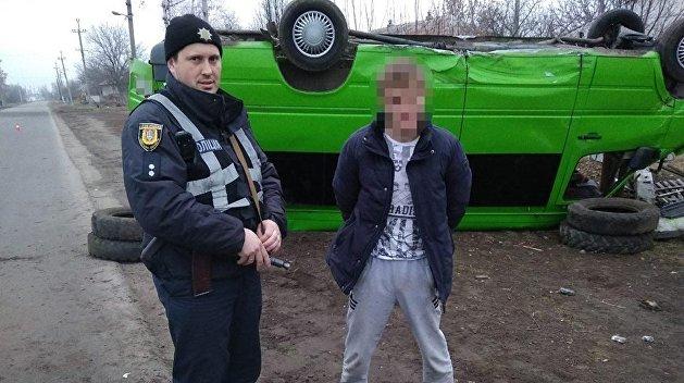 Под Одессой осужденный прокутил деньги и угнал маршрутку
