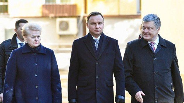Порошенко принял участие в визите президента Литвы в Польшу