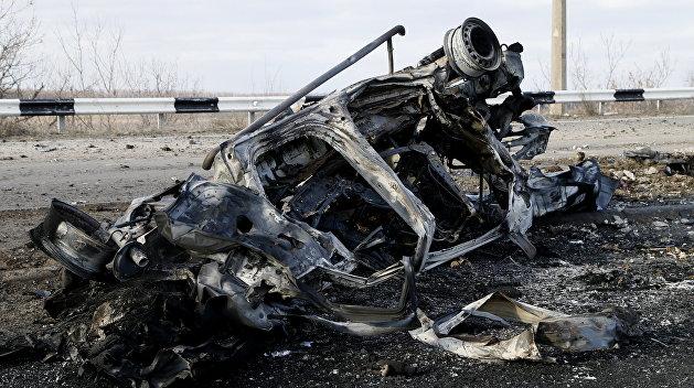 ДНР: Украинские диверсанты подорвали автомобиль в Макеевке