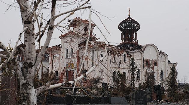 Донецкий митрополит обратился к прихожанам из разрушенного украинскими войсками монастыря