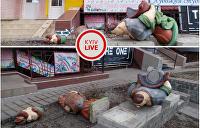 В Киеве вандалы разбили скульптуру казаков из советского мультфильма