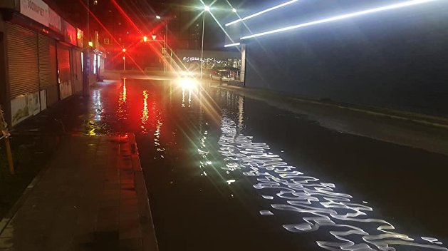 Венеция по-днепровски: Дождь превратил улицу города в водный канал