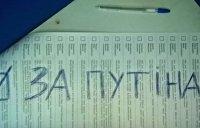 Украинцы голосуют на выборах за Путина и Савченко — Видео
