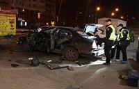 Полиция расследует покушение на убийство после ночного взрыва авто в Киеве