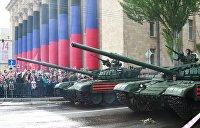 Донецк в День Победы: парад воюющей республики