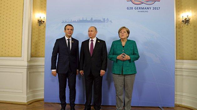 «Нормандская четверка минус один»: Путин, Меркель и Макрон начали встречу