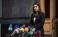 Пресс-секретарь Зеленского применила физическую силу к журналисту
