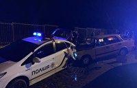 В Одесской области припаркованный автомобиль полиции попал в ДТП с двумя ВАЗами