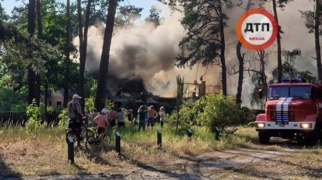 Под Киевом сгорел дом «Сватов»