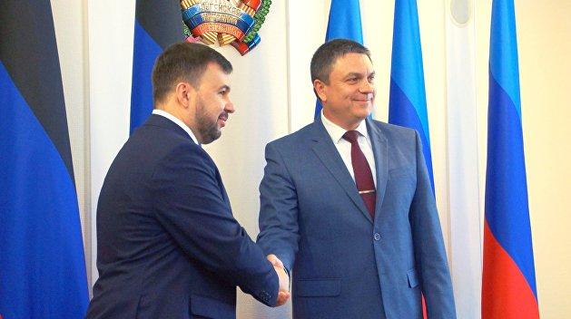 Главы ДНР и ЛНР выразили готовность к диалогу с Зеленским