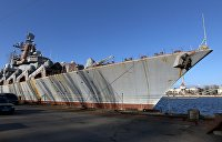 """Прикольный металлолом. Крейсер """"Украина"""" хотели продать Китаю, но он 30 лет простоял на приколе в порту"""
