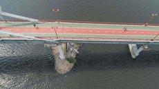 Из-за обвала конструкций движение по мосту на Труханов остров в Киеве ограничат на три дня