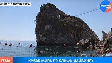В Крыму прошел чемпионат мира по клифф-дайвингу. Вопреки санкциям и украинским запретам