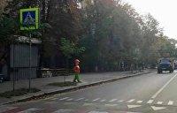 На улицах Киева появились пластмассовые школьники