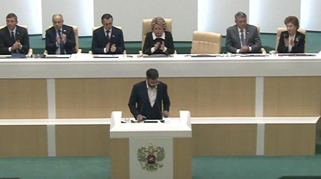 Матвиенко предложила Вышинскому совместно бороться за свободу слова на международной арене