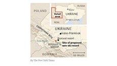 Киев потребовал от The New York Times исправить «ошибку» в карте Украины без Крыма