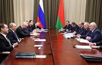 Саммит Россия-Белоруссия в Сочи: дорожную карту не подписали, а в Минске прошел «майданчик»