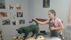 Украинская школьница подарила королевской семье Бельгии «Писающего кота»