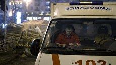 Под Запорожьем карета скорой помощи переехала уже сбитого пешехода