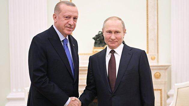 Получив отказ от США, Эрдоган прилетел к Путину решать проблему Идлиба