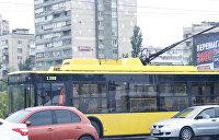 Украинцев неприятно удивил снег в троллейбусе — видео
