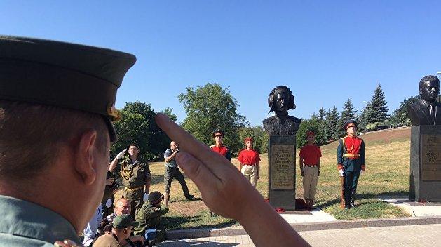 В Донецке открыли памятник Гиви