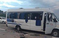 Украинская полиция завела дело о хулиганстве по факту обстрела автобуса под Харьковом
