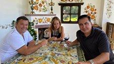 Богдан, Саакашвили и «слуга народа» Ясько обсудили киевские выборы за бокалом вина - фото