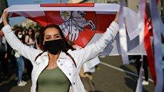 В Минске на «репетиции инаугурации Тихановской» силовики задерживают женщин - видео