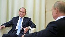Телеканалы Украины проверят из-за показа встречи Медведчука с Путиным