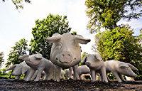 Свин в раю, хрюшка-грязнуля и свинья-кормилица: забавные «аграрные» памятники Полтавской области