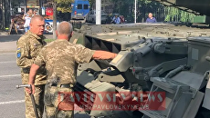 На репетиции парада ко Дню независимости сломался танк - видео