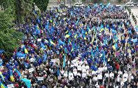 Под Радой начинается многотысячный митинг против власти