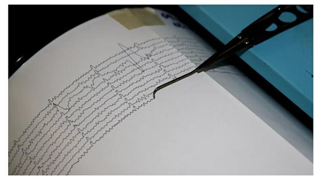 Землетрясение на Украине попало на видео