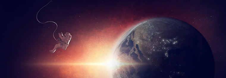 космос, космонавт, Земля, планета