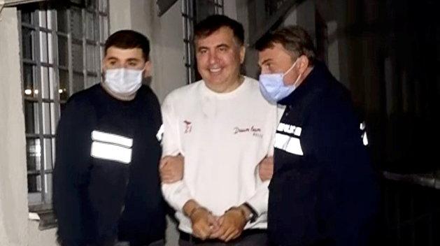 У посольства Грузии в Киеве проходит акция в поддержку Саакашвили